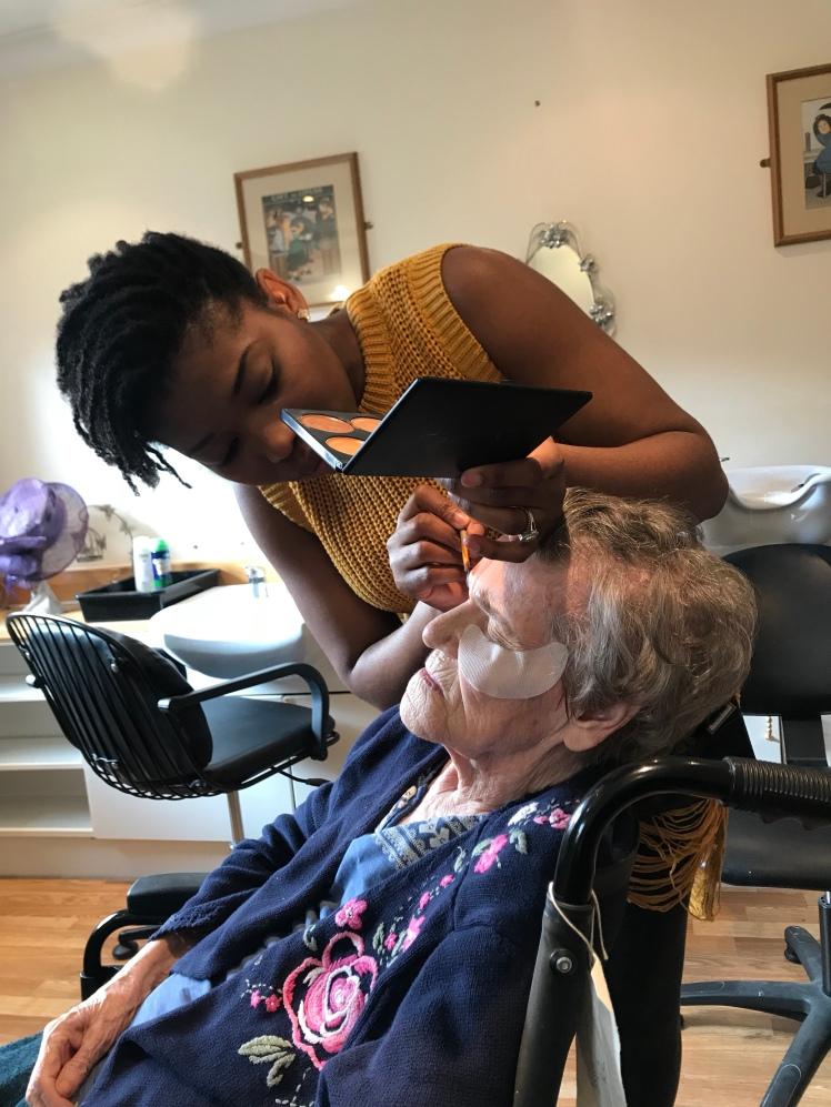 Volunteer Makeup for 90 year old